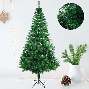 COOSNUG 210cm Weihnachtsbaum Künstlich Grün unechter Tannenbaum mit Metall Christbaum Ständer Schwer entflammbar - 4