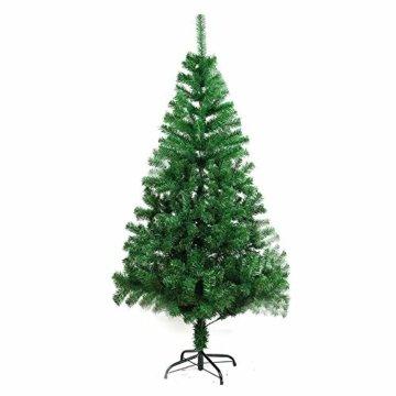 COOSNUG 210cm Weihnachtsbaum Künstlich Grün unechter Tannenbaum mit Metall Christbaum Ständer Schwer entflammbar - 1