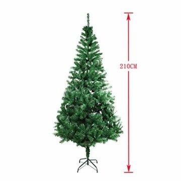 COOSNUG 210cm Weihnachtsbaum Künstlich Grün unechter Tannenbaum mit Metall Christbaum Ständer Schwer entflammbar - 5
