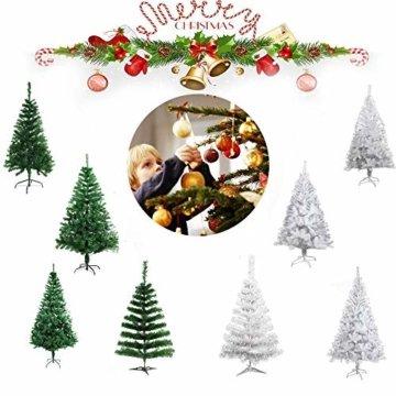 COOSNUG 210cm Weihnachtsbaum Künstlich Grün unechter Tannenbaum mit Metall Christbaum Ständer Schwer entflammbar - 6
