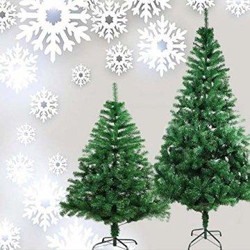 COOSNUG 210cm Weihnachtsbaum Künstlich Grün unechter Tannenbaum mit Metall Christbaum Ständer Schwer entflammbar - 7