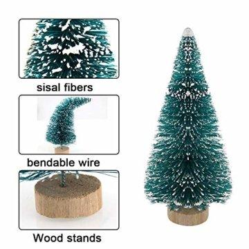 DECARETA 35 Stück Künstlicher Weihnachtsbaum, Mini Grün Tannenbaum, 4.5/6.5/8.5/12.5cm Naturgetreuer Christbaum für Tischdeko, DIY, Schaufenster (Grün) - 2