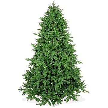 DekoLand Deluxe Pe Spritzguss Weihnachtsbaum künstlich 210 cm (Ø 150 cm) 1174 Zweige (5195 Spitzen), grün, Klappsystem - 1