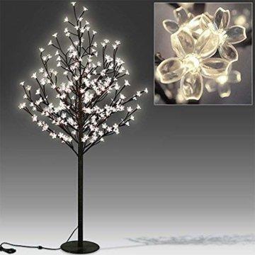 Deuba Kirschblütenbaum 200 LED | 180cm I Fernbedienung I Timer I 8 LeuchtmodiI Lichterbaum Indoor Outdoor | Warmweiß - 2