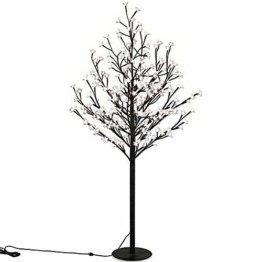 Deuba Kirschblütenbaum 200 LED | 180cm I Fernbedienung I Timer I 8 LeuchtmodiI Lichterbaum Indoor Outdoor | Warmweiß - 1