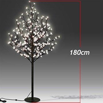 Deuba Kirschblütenbaum 200 LED | 180cm I Fernbedienung I Timer I 8 LeuchtmodiI Lichterbaum Indoor Outdoor | Warmweiß - 4