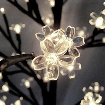 Deuba Kirschblütenbaum 200 LED | 180cm I Fernbedienung I Timer I 8 LeuchtmodiI Lichterbaum Indoor Outdoor | Warmweiß - 6