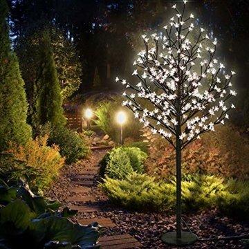 Deuba Kirschblütenbaum 200 LED | 180cm I Fernbedienung I Timer I 8 LeuchtmodiI Lichterbaum Indoor Outdoor | Warmweiß - 8