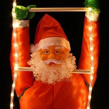 Deuba LED Weihnachtsmann auf Leiter XXL 240cm für In-/Outdoor 8 Leuchtfunktionen Santa Claus Nikolaus Weihnachten - 2