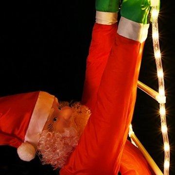 Deuba LED Weihnachtsmann auf Leiter XXL 240cm für In-/Outdoor 8 Leuchtfunktionen Santa Claus Nikolaus Weihnachten - 8
