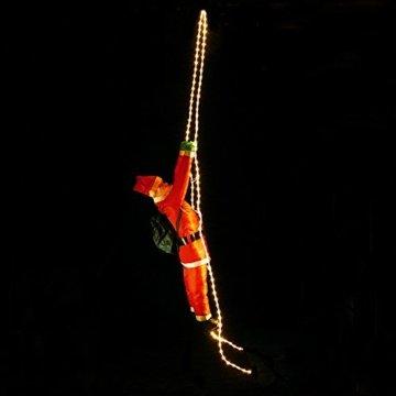 Deuba LED Weihnachtsmann auf Leiter XXL 240cm für In-/Outdoor 8 Leuchtfunktionen Santa Claus Nikolaus Weihnachten - 9