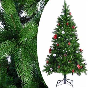 Deuba Weihnachtsbaum 180 cm Ständer Spritzguss künstlicher Tannenbaum Christbaum Baum Tanne Edeltanne Christbaumständer PE - 6