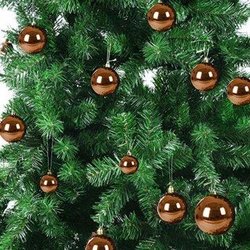 Deuba Weihnachtskugeln Bronze 100 Christbaumschmuck Aufhänger Christbaumkugeln für den Weihnachtsbaum Weihnachtsbaumschmuck Weihnachtsbaumkugeln - 2