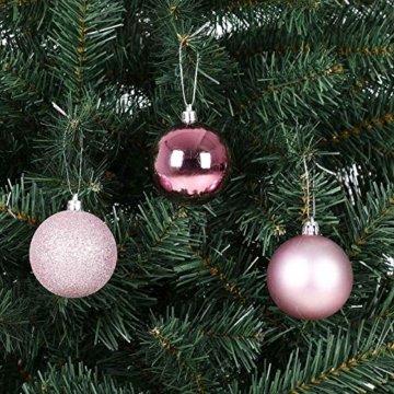 Deuba Weihnachtskugeln Rosa 77 Christbaumschmuck Aufhänger Christbaumkugeln für den Weihnachtsbaum Weihnachtsbaumschmuck Weihnachtsbaumkugeln - 7