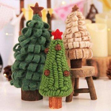 Fdit Mini Weihnachtsbaum Innenweihnachtsdekorations Weihnachtsdekorativer Baum für Einkaufszentrum Rezeption Weihnachtsdekoration(5#) - 2