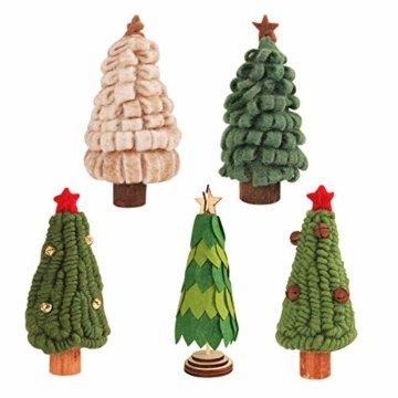 Fdit Mini Weihnachtsbaum Innenweihnachtsdekorations Weihnachtsdekorativer Baum für Einkaufszentrum Rezeption Weihnachtsdekoration(5#) - 3