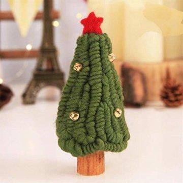 Fdit Mini Weihnachtsbaum Innenweihnachtsdekorations Weihnachtsdekorativer Baum für Einkaufszentrum Rezeption Weihnachtsdekoration(5#) - 4