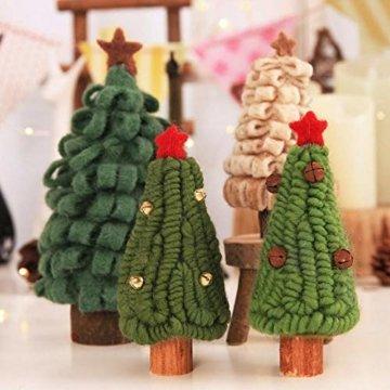 Fdit Mini Weihnachtsbaum Innenweihnachtsdekorations Weihnachtsdekorativer Baum für Einkaufszentrum Rezeption Weihnachtsdekoration(5#) - 6