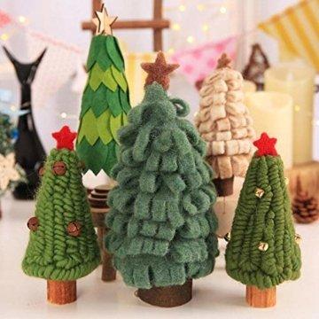 Fdit Mini Weihnachtsbaum Innenweihnachtsdekorations Weihnachtsdekorativer Baum für Einkaufszentrum Rezeption Weihnachtsdekoration(5#) - 7