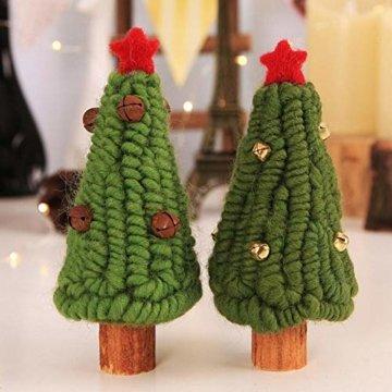 Fdit Mini Weihnachtsbaum Innenweihnachtsdekorations Weihnachtsdekorativer Baum für Einkaufszentrum Rezeption Weihnachtsdekoration(5#) - 8