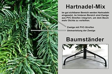 Gartenpirat 180cm BonTree Tanne Weihnachtsbaum Tannenbaum künstlich aus Spritzguss/PVC-Mix - 5