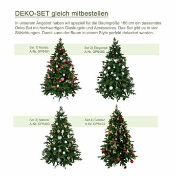 Gartenpirat 180cm BonTree Tanne Weihnachtsbaum Tannenbaum künstlich aus Spritzguss/PVC-Mix - 8
