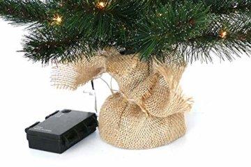 Gartenpirat Weihnachtsbaum Tanne 60 cm beleuchtet 25 LED Deko Christbaum Tannenbaum - 4