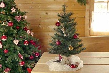 Gartenpirat Weihnachtsbaum Tanne 60 cm beleuchtet 25 LED Deko Christbaum Tannenbaum - 5