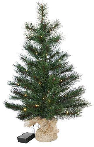Gartenpirat Weihnachtsbaum Tanne 60 cm beleuchtet 25 LED Deko Christbaum Tannenbaum - 1
