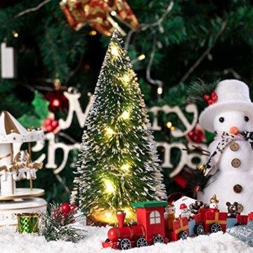 ghhshjhlk Mini Weihnachtsbaum Mit Licht Lampe Perfekt Für Ihr Zuhause Oder Büro Dekor Mehrfarbig 15 cm - 5