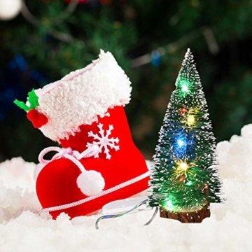 ghhshjhlk Mini Weihnachtsbaum Mit Licht Lampe Perfekt Für Ihr Zuhause Oder Büro Dekor Mehrfarbig 15 cm - 6