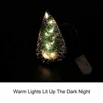 ghhshjhlk Mini Weihnachtsbaum Mit Licht Lampe Perfekt Für Ihr Zuhause Oder Büro Dekor Mehrfarbig 15 cm - 7