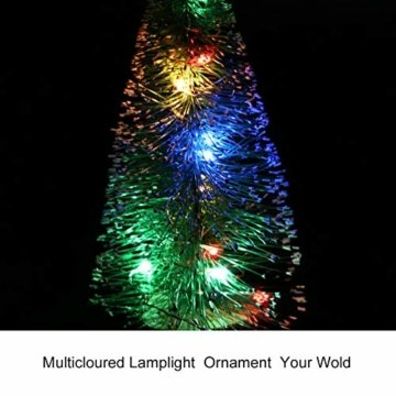 ghhshjhlk Mini Weihnachtsbaum Mit Licht Lampe Perfekt Für Ihr Zuhause Oder Büro Dekor Mehrfarbig 15 cm - 8