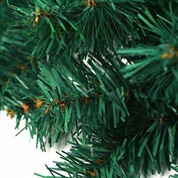 GHONLZIN Girlande für Weihnachtsschmuck, 8.8ft Girlande für Weihnachten künstliche Kiefernadeln Dekorationen für Urlaub Hochzeitsfeier - 3