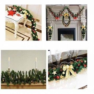 GHONLZIN Girlande für Weihnachtsschmuck, 8.8ft Girlande für Weihnachten künstliche Kiefernadeln Dekorationen für Urlaub Hochzeitsfeier - 7