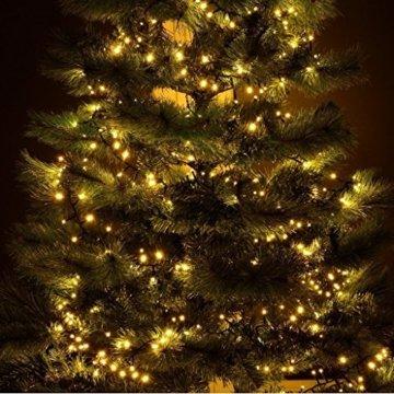 gresonic-Led-Cluster-15m lang-Lichterkette-Strombetrieb Deko für Innen Außen Garten Weihnachtsbaum Hochzeit (Warmweiss Dauerlicht, 750LED) - 3