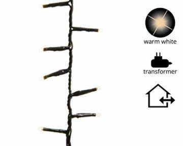 gresonic-Led-Cluster-15m lang-Lichterkette-Strombetrieb Deko für Innen Außen Garten Weihnachtsbaum Hochzeit (Warmweiss Dauerlicht, 750LED) - 5