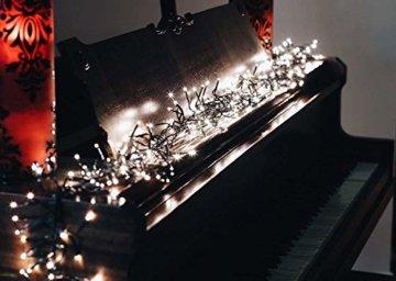 gresonic-Led-Cluster-15m lang-Lichterkette-Strombetrieb Deko für Innen Außen Garten Weihnachtsbaum Hochzeit (Warmweiss Dauerlicht, 750LED) - 6