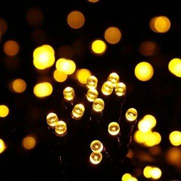 gresonic-Led-Cluster-15m lang-Lichterkette-Strombetrieb Deko für Innen Außen Garten Weihnachtsbaum Hochzeit (Warmweiss Dauerlicht, 750LED) - 8
