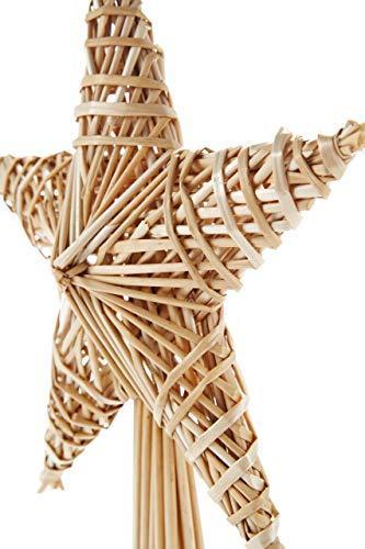 HEITMANN DECO Stroh-Baumspitze 25 cm Natur - Christbaumspitze Stern aus Stroh - Christbaumschmuck aus natürlichem Material - 4