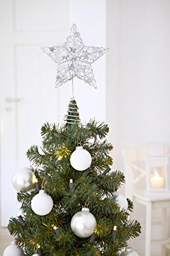 Heitmann Deco Weihnachtsbaum-Spitze - Metall-Baumspitze Stern in silber - glitzernder Blickfang für den Christbaum - 2