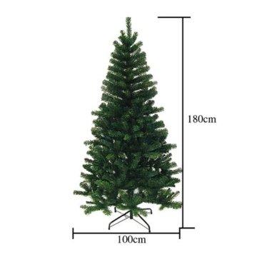 Hengda® 180 cm Hoch Einzigartiger Künstlicher Weihnachtsbaum Baum Dekobaum Kunstbaum mit Ständer Christbaum - 3