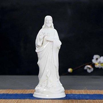 HJIKM Statue Dekoration Familienstatue Jesus Krippe Figur Dekorative Figuren Kunst & Handwerk Home Dekoration Zubehör - 2