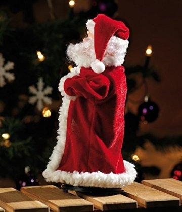 infactory Nikolaus: Singender, Tanzender Weihnachtsmann Swinging Santa, 28 cm (Tanzender Weihnachtsmann mit Musik) - 3