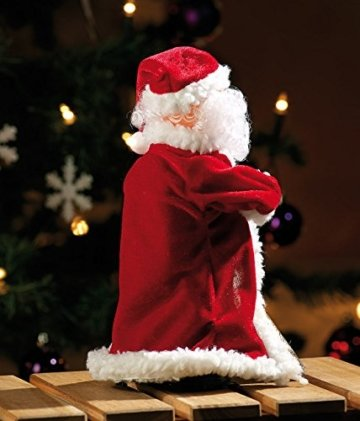 infactory Nikolaus: Singender, Tanzender Weihnachtsmann Swinging Santa, 28 cm (Tanzender Weihnachtsmann mit Musik) - 7