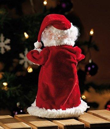 infactory Nikolaus: Singender, Tanzender Weihnachtsmann Swinging Santa, 28 cm (Tanzender Weihnachtsmann mit Musik) - 9
