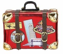 Inge-Glas Christbaumschmuck Koffer Weltreise - 1