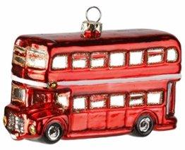 Inge-glas Weihnachts-Hänger Doppeldeckerbus London - 1