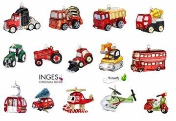 Inge-glas Weihnachts-Hänger Doppeldeckerbus London - 2