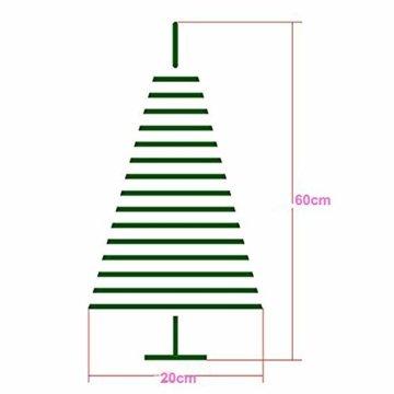 Klein Künstlicher Weihnachtsbaum mit LED Beleuchtung - Motent 60cm Christbaum mit Ständer und Weihnachtsschmuck Mini Tannenbaum DIY Weihnachten Dekoration für Hause Küche Party Festival Winter - 4